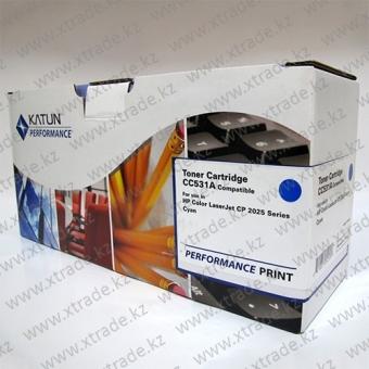 Картридж CC531A cyan (KATUN)