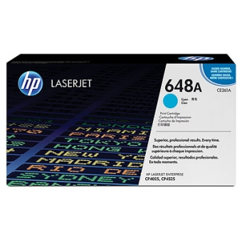 Print Cartridge HP 648A cyan (Original)
