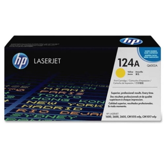 Print Cartridge HP 124A yellow (Original) Q6002A