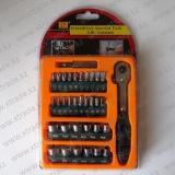 Ключ реверсивный с насадками 33 шт.