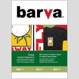 Бумага BARVA THERMOTRANSFER Черные Ткани 205g A4 20л