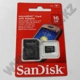 Жад картасы microSD 16Gb SanDisk