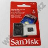 Жад картасы microSD 4Gb SanDisk